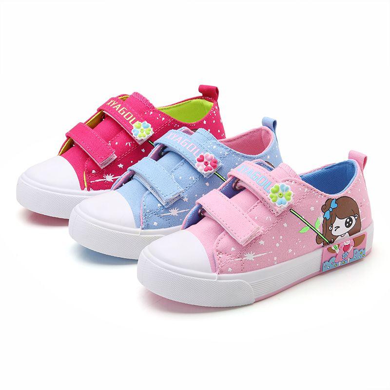 2017 Холст Дети Обувь девушка туфли принцессы анти-скользкие Брендовая обувь для детей Джинсы для маленьких девочек джинсовые сапоги на плос...
