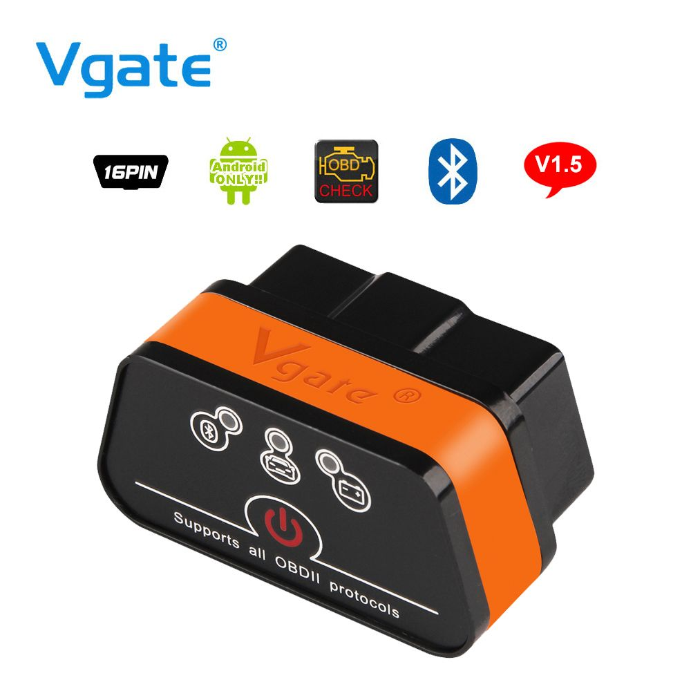 Vgate iCar2 ELM327 OBD2 Bluetooth адаптер OBD 2 автомобиля инструмент диагностики сканер ELM 327 V2.1 диагностический инструмент для Android ПК