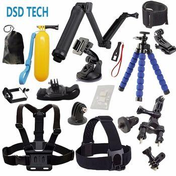 DSD TECH for GoPro Accessories with 3 Way monopod grip mount chest harness for go pro hero 4 5 3 2 1 sjcam sj4000 eken h9 08A