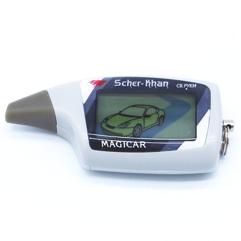 Scher KHAN M5 Scher-Khan M5 Magicar 5 брелок ЖК-дисплей двухстороннее автомобиль сигнализация Новый пульт дистанционного управления/fm-трансмиттер