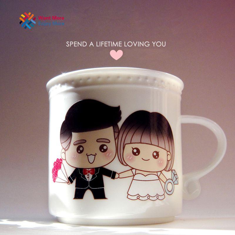 Магия любить тебя Цвет Изменение белый Керамика кружка термочувствительных сублимации молоко Кофе напитки Кубок пару подарки