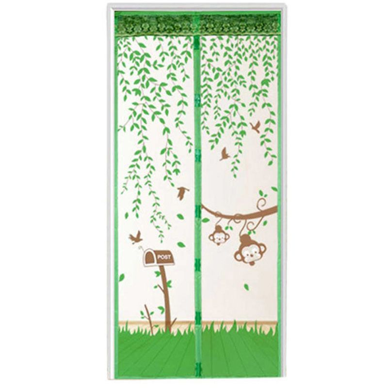 1PC Durable Door Curtain Summer Mesh Mosquito Prevent Door Screen Kitchen Window Curtains Tulle Door Screens