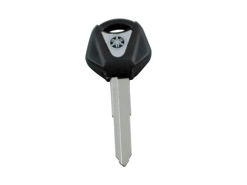BLACK Single Trough key For YAHAMA Motorcycle key blank with blade YZF R1 R6 FZ1 FZ4 FZ6 FZ8 XJ6 XJR