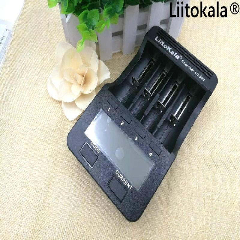 100% Liitokala lii 500 LCD Chargeur 3.7 V 18650 26650 18500 cylindrique au lithium batteries, 1.2 V AA AAA NiMH batterie chargeur