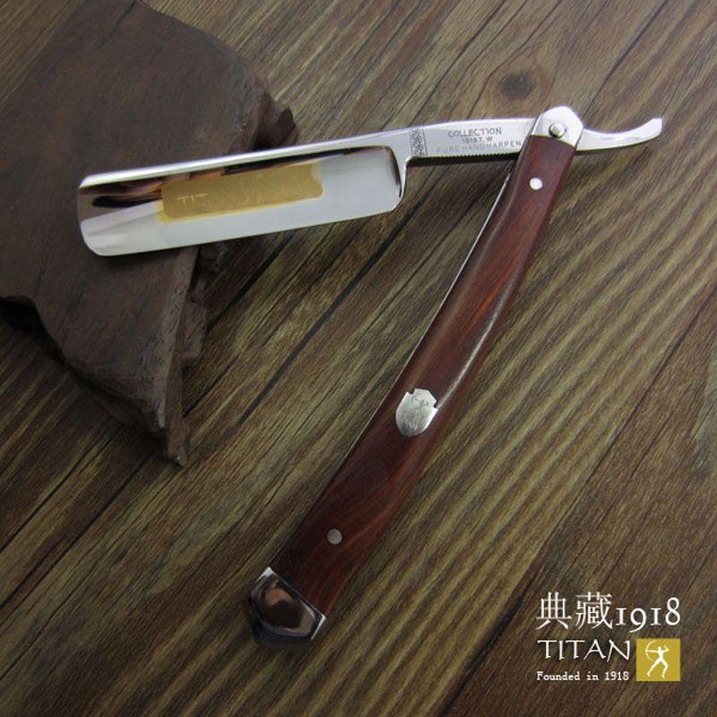 Livraison gratuite Titan rasoir manche en bois fait à la main en acier inoxydable balde