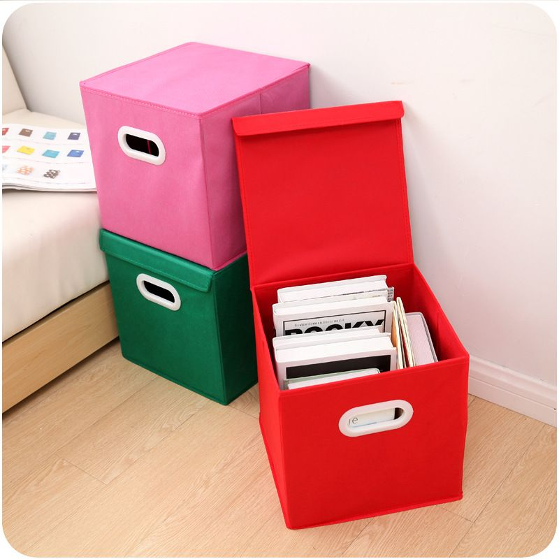 Спиннинг ткань складной ящик для хранения крышка с ручкой ящик для хранения отделочных Костюмы оптовая хранения Стойки и корзины