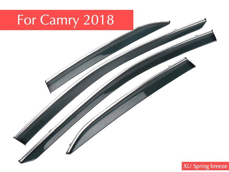 Car Rain shield Rain Shelter Windows Shelter Window Visor Window Deflector Sun Visor for Toyota Camry 2018 8Th Gen Car Styling