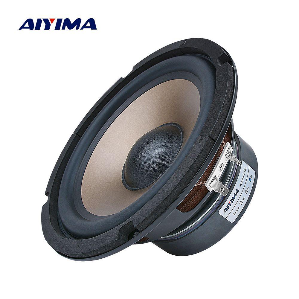 AIYIMA 6,5 Zoll Subwoofer Audio Lautsprecher 80 W 4 8 Ohm High Power Fieber Woofer Musik Lautsprecher DIY Für Bücherregal sound System