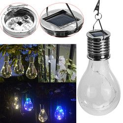 Hot Fashion Durable Waterproof Solar Rotatable Outdoor Garden Camping Hanging LED Light Lamp Bulb Warm White Drop Shipping