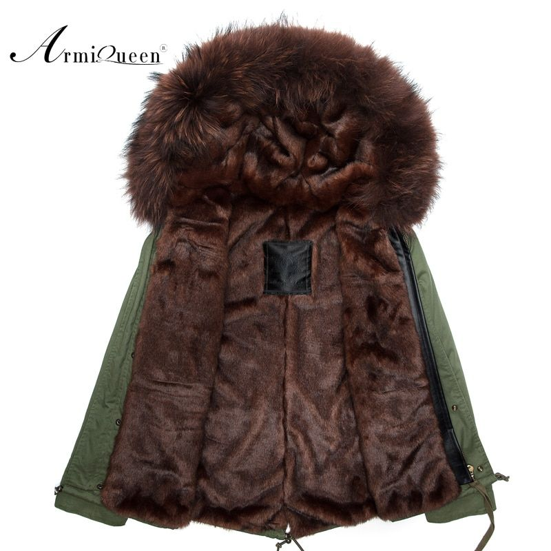 New Real man Genuine real Rabbit Fur short With Raccoon Fur Winter Fur Jacket eastern fur