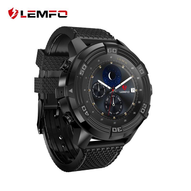 Lemfo LEM6 Android 5.1 Смарт часы SmartWatch Водонепроницаемый GPS трекер Умные часы телефон 1 ГБ + 16 ГБ SmartWatch 2017
