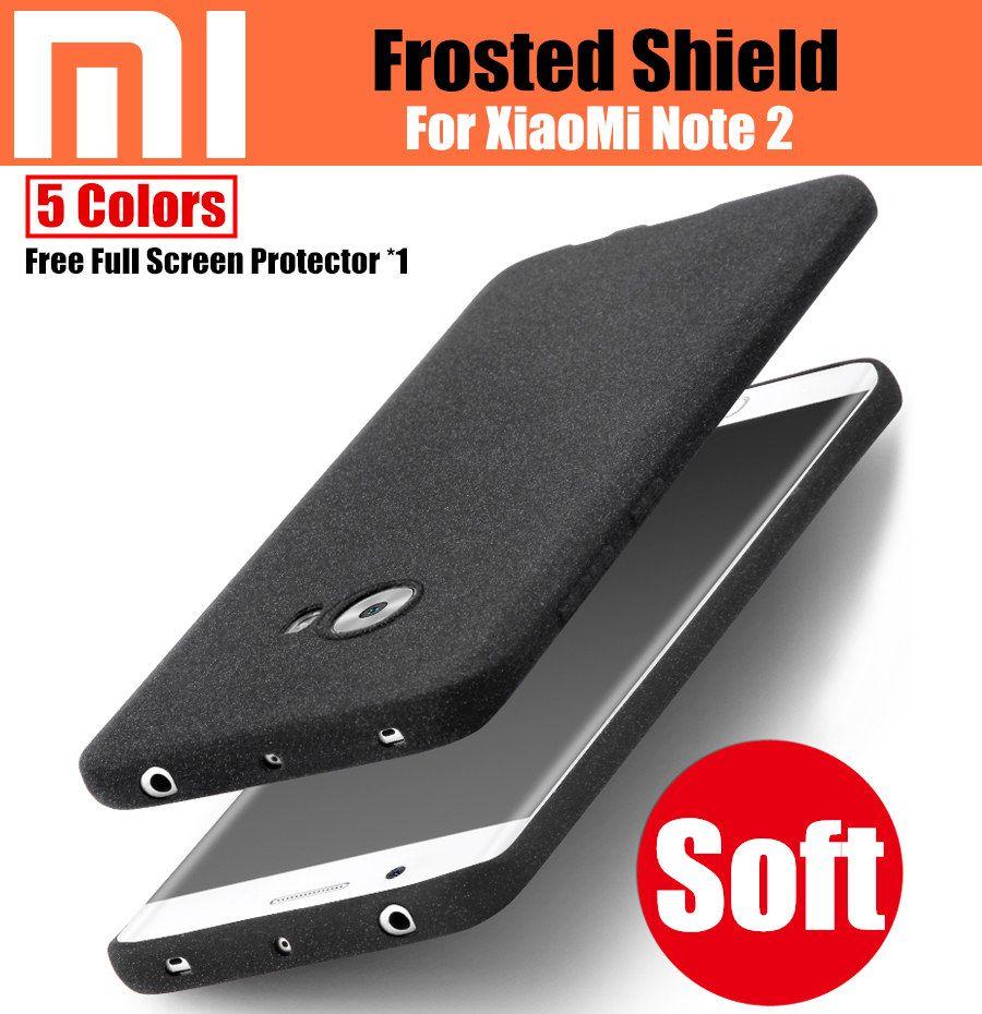 Xiaomi Mi Note 2 Case Givré bouclier Mat Ultra Mince Couverture de Silicone Coloré pour Xiaomi mi note 2 5.7 ''Cases