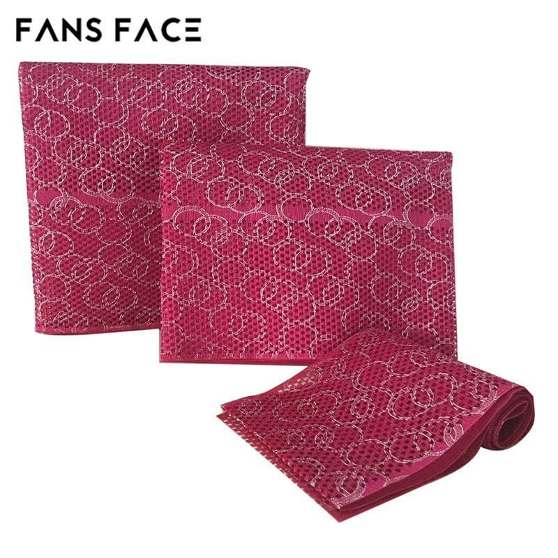 FANS FACE 2017 African Traditional Style For Women 3pc/Bag Orignal Nigeria Headtie afro GELE Headscarf Christmas fabric/lace