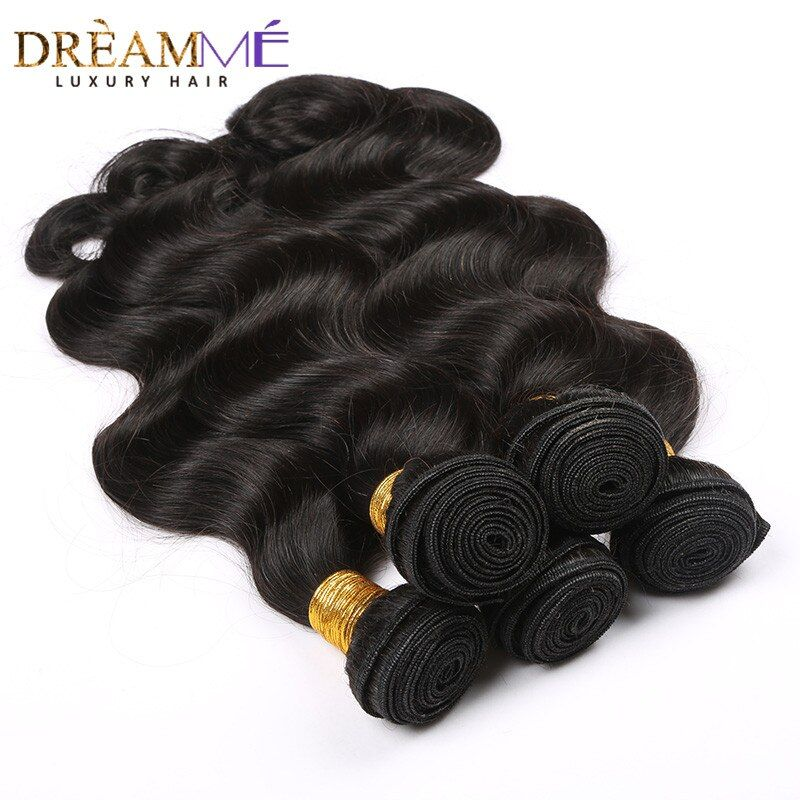 Brésilienne Corps Vague Humaine Extension de Cheveux 100% Remy Cheveux Weave Bundles Naturel Noir Couleur Rêver Reine Cheveux Produits