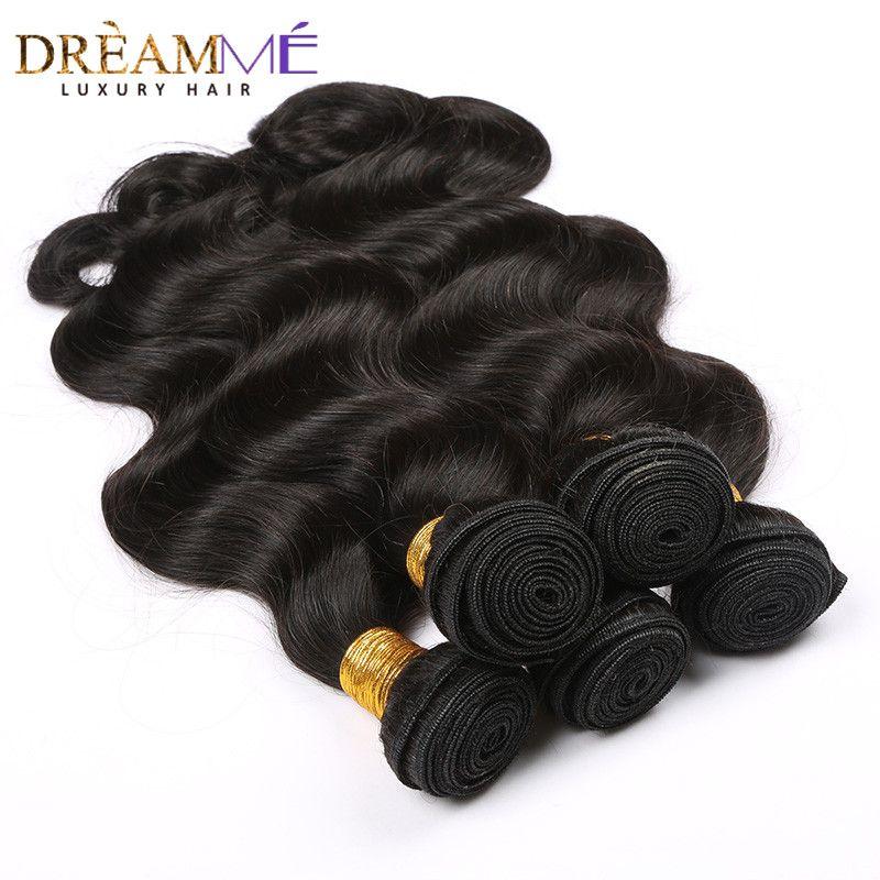Extension brésilienne de cheveux humains de vague de corps 100% paquets d'armure de cheveux de Remy couleur noire naturelle rêvant des produits de cheveux de reine