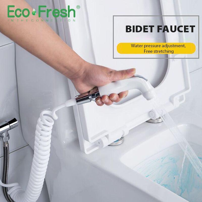 Poche Toilettes bidet pulvérisateur ensemble Kit Main Bidet robinet pour Salle De Bains pulvérisateur à main pomme de douche auto nettoyage
