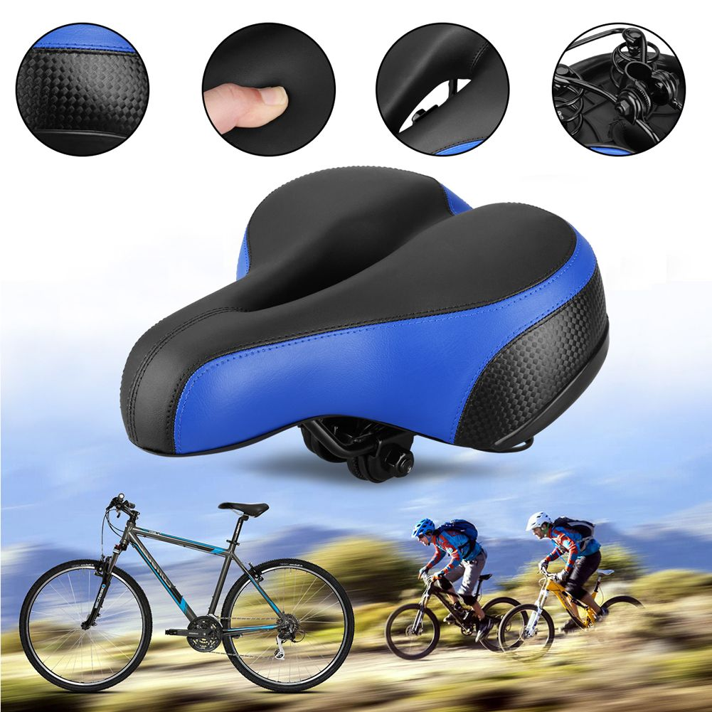 2018 Soft MTB Bicycle Saddle Thicken Wide Bicycles Seat Pad + <font><b>Rear</b></font> Cycling Mountain Road Bike Saddle Bicycle Accessories