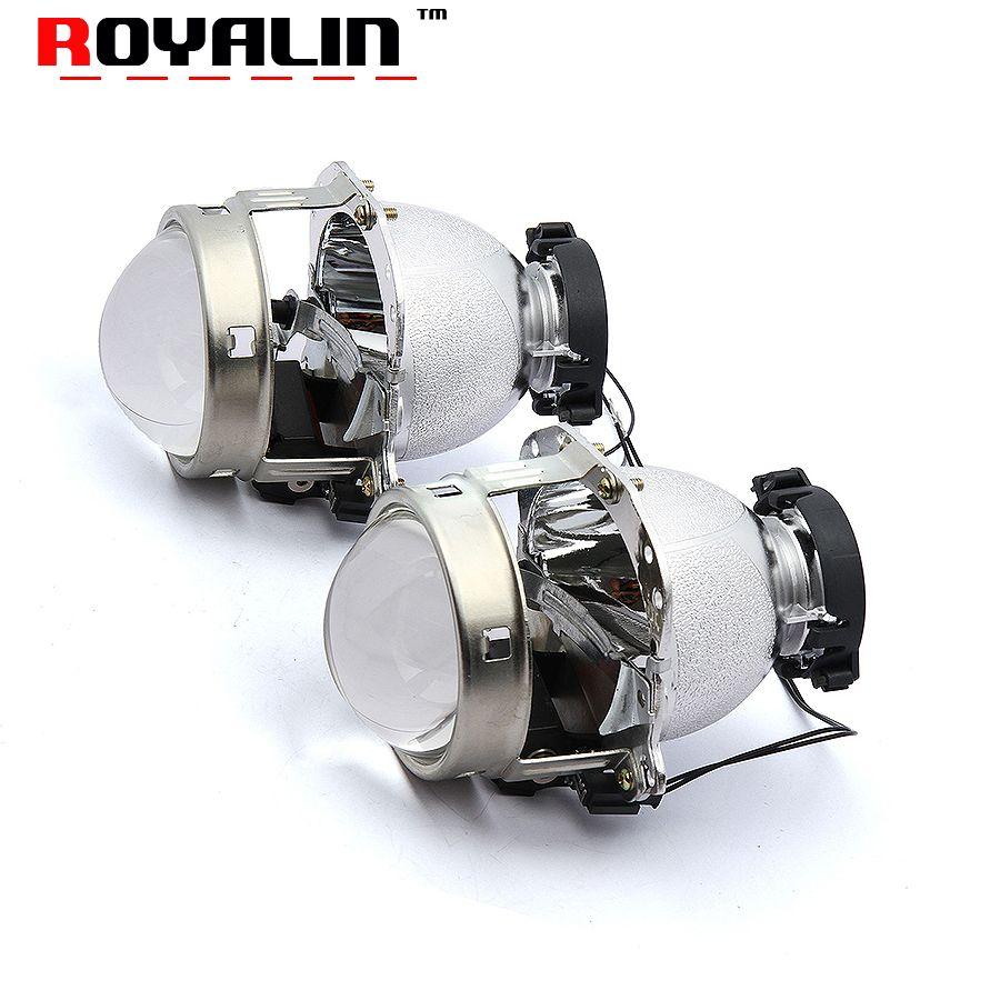 ROYALIN Hella EVOX-R 2 D2S Projector Headlight Bixenon Lens for BMW E39 E60 Ford Fiesta Audi A6 C5 C6 W211 Passat B6 Skoda Fabia