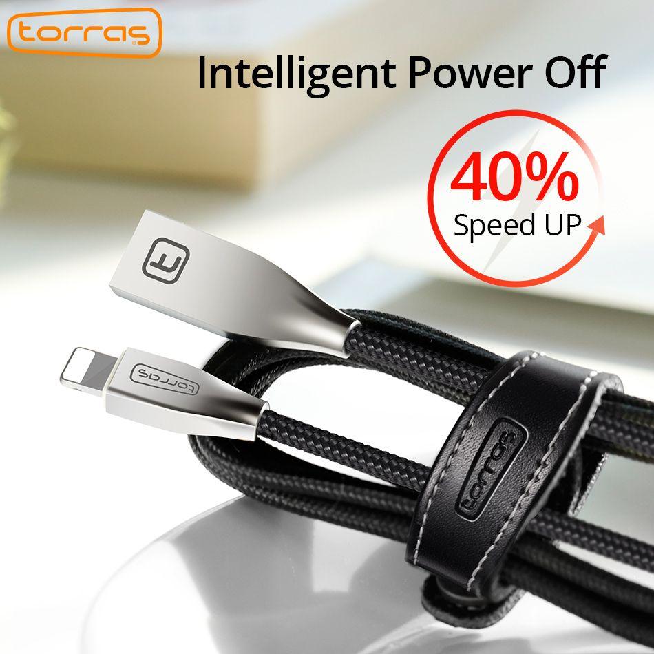 TORRAS 2A USB Câble Pour iPhone Rapide Chargeur Câble 1.8 M Câble de Données pour iPhone 8X7 6 5S iPad Adaptateur Cabo Pour iPhone câbles