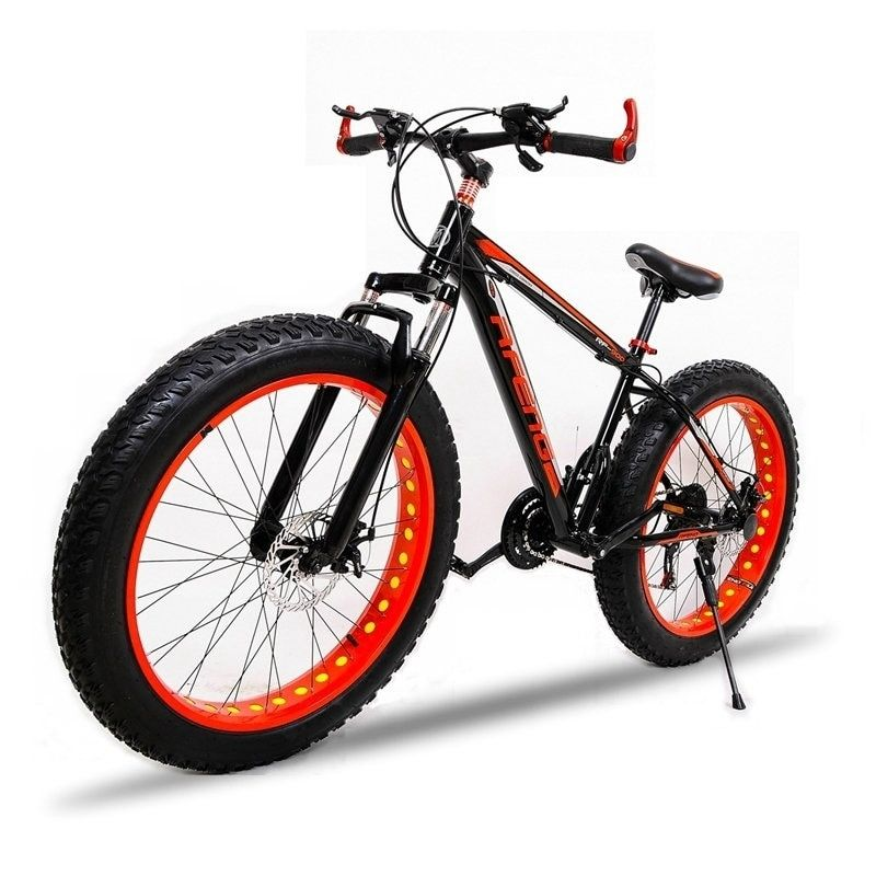 bicycle High quality Mountain bike 26x4.0 fat bike 7speed Off-road bike Double disc brakes Men and women bike suitable