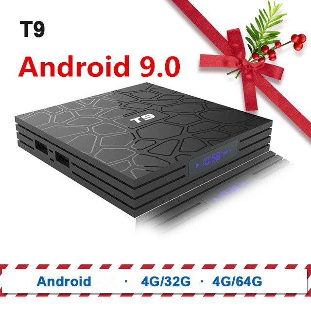 TV Box T9 Android 8.1 Bluetooth Rockchip RK3328 4GB RAM 32GB/64GB 4K Google Player Support 2.4GHz WiFi HD 4K Smart Set top box
