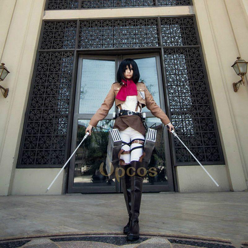 Angriff auf Titan Cosplay Shingeki keine Kyojin Mikasa Ackerman Cosplay Kostüm Frauen Halloween Kostüme Vollen Satz