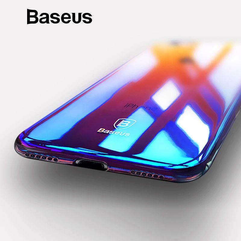 Für iPhone 8 Fall, baseus Luxus Überzug Gradient Hard Kunststoff Fall Für iPhone 8 8 Plus 7 7 Plus Fällen Ultra Dünne Bcak PC abdeckung