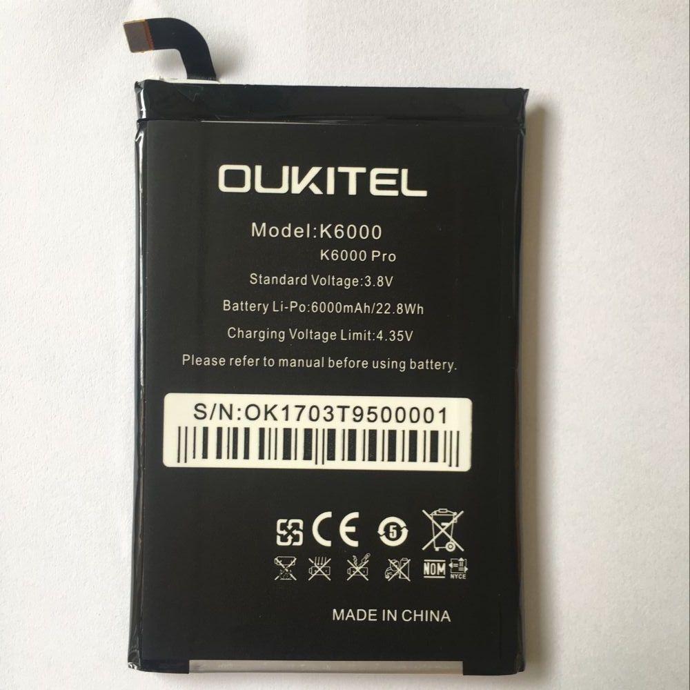 Oukitel K6000 Pro Battery Replacement Original Large Capacity 6000mAh Back Up Batteries For Oukitel K6000 Pro