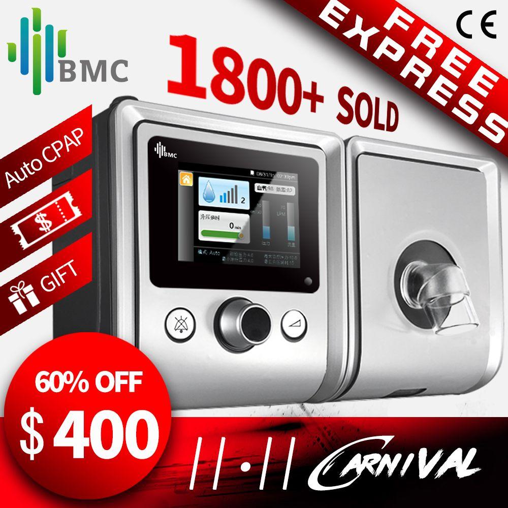 BMC GII Auto CPAP Maschine E-20A Medizinische Ausrüstung für Schlafapnoe OSA vibrator Anti Schnarchen Ventilator mit Luftbefeuchter CPAP Maske