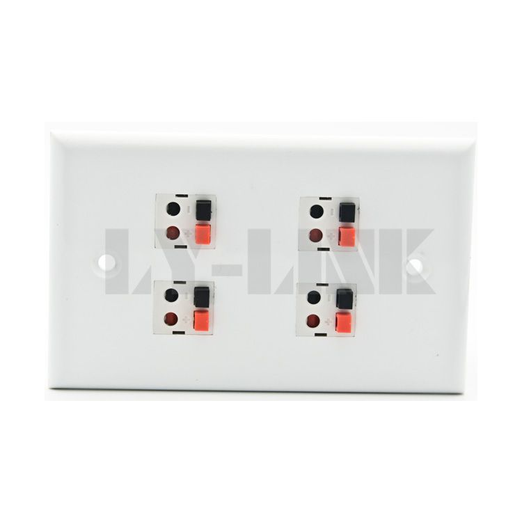120 X 70 size 4 ports banana sound box speaker wall plate with new style