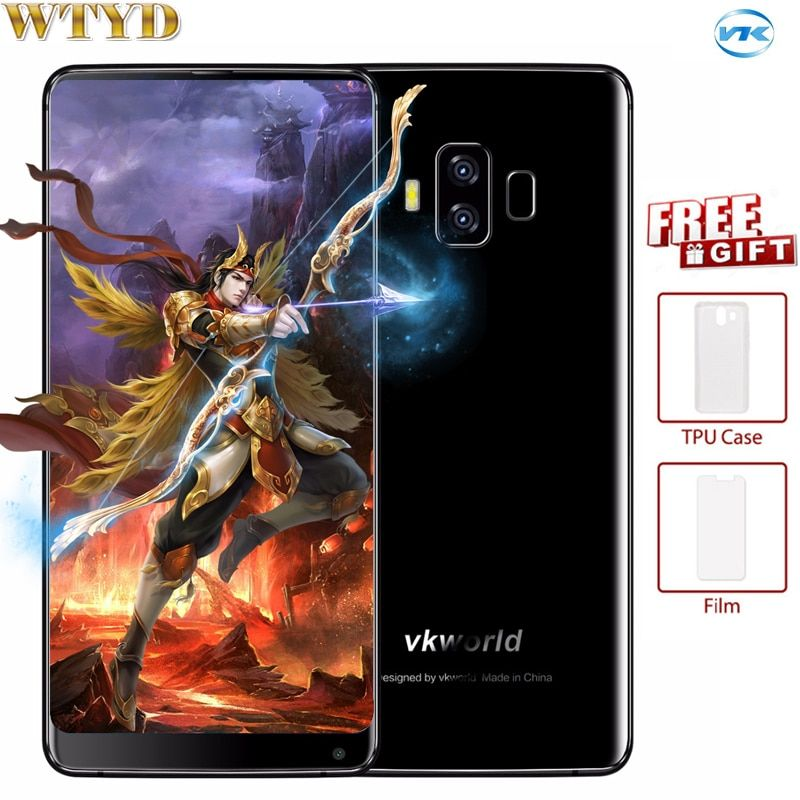 VKworld S8 4GB+64GB Dual Back Cameras Fingerprint Identification 5500mAh 5.99'' Android 7.0 MTK6750T Octa Core up to 1.5Ghz 4G