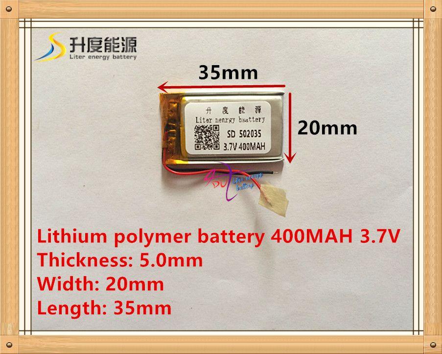 Поставка литий-полимерный аккумулятор 502035 3.7 В 052035 400 мАч MP3 MP4 MP5 аккумулятор bluetooth гарнитура аккумулятор