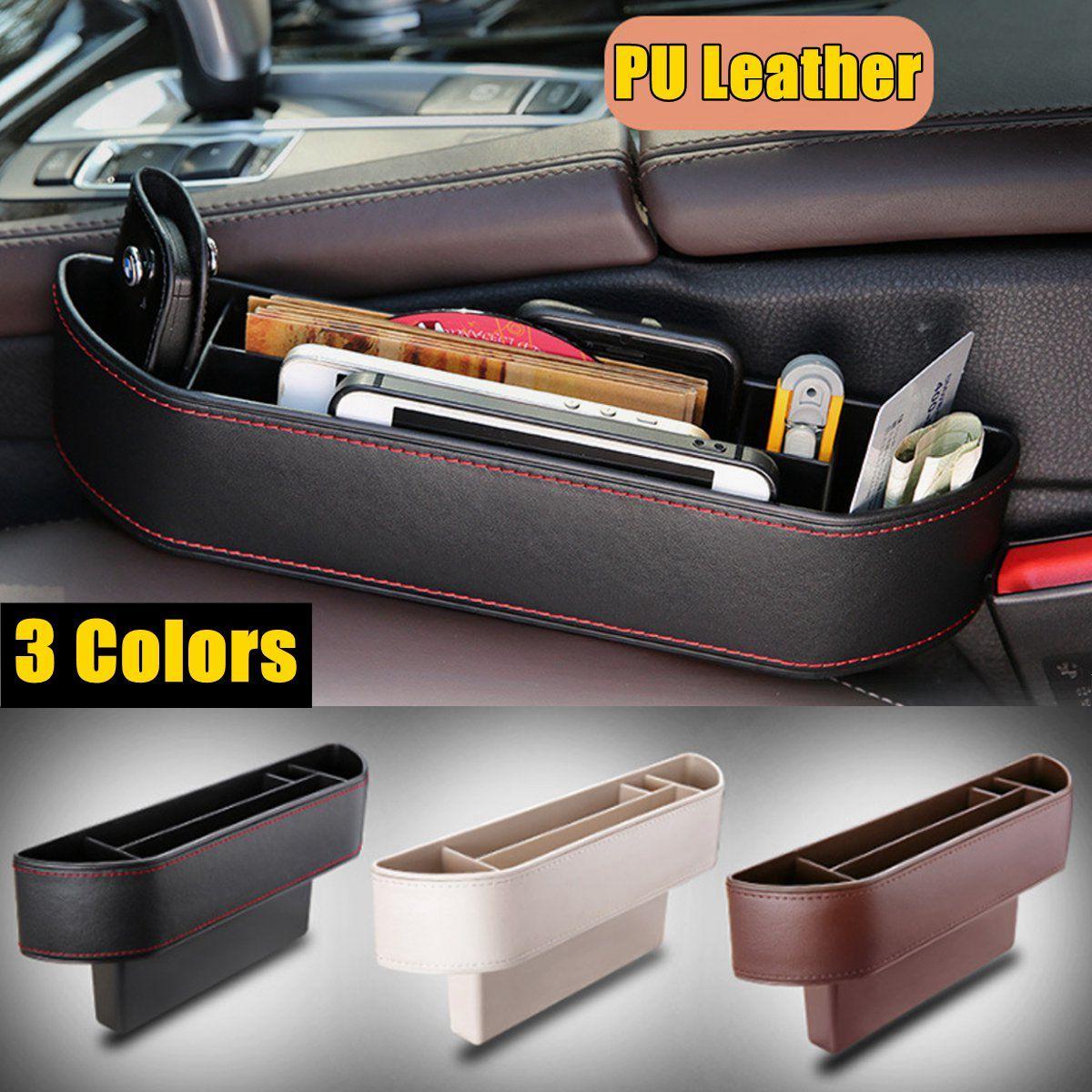 Multiple Grid 3 Colors Car Seat Gap Storage Box for Pocket Phone Organizer Holder Phone Card Key Holder Box