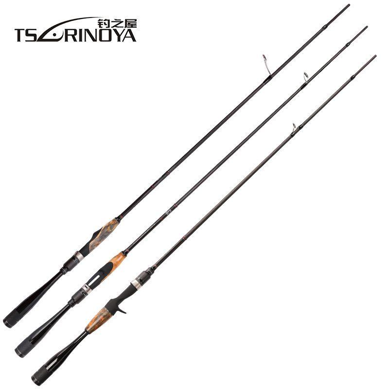 TSURINOYA AGILE FUJI Ring Rod Fishing 1.95m/2.01m L/ML Tip Ultralight Carbon Fiber Handle Carp Spinning Casting Fishing Rod