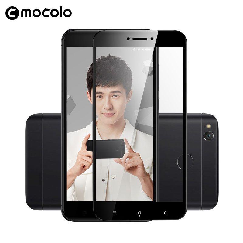 Оригинальный Mocolo Экран Full Cover Красочные Плёнки закаленное Стекло для Xiaomi Redmi 4x4 шт./партия Бесплатная доставка от RU