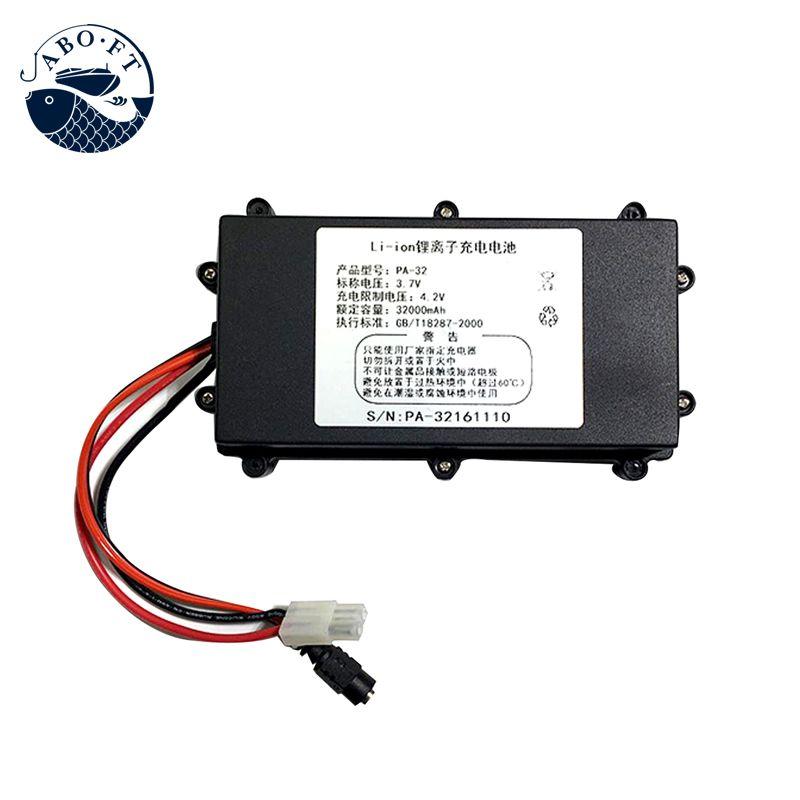 Jabo angeln werkzeug Größte kapazität lithium-batterie 3,7 v/32ah batterie akku für jabo 2 köder boot angeln werkzeug