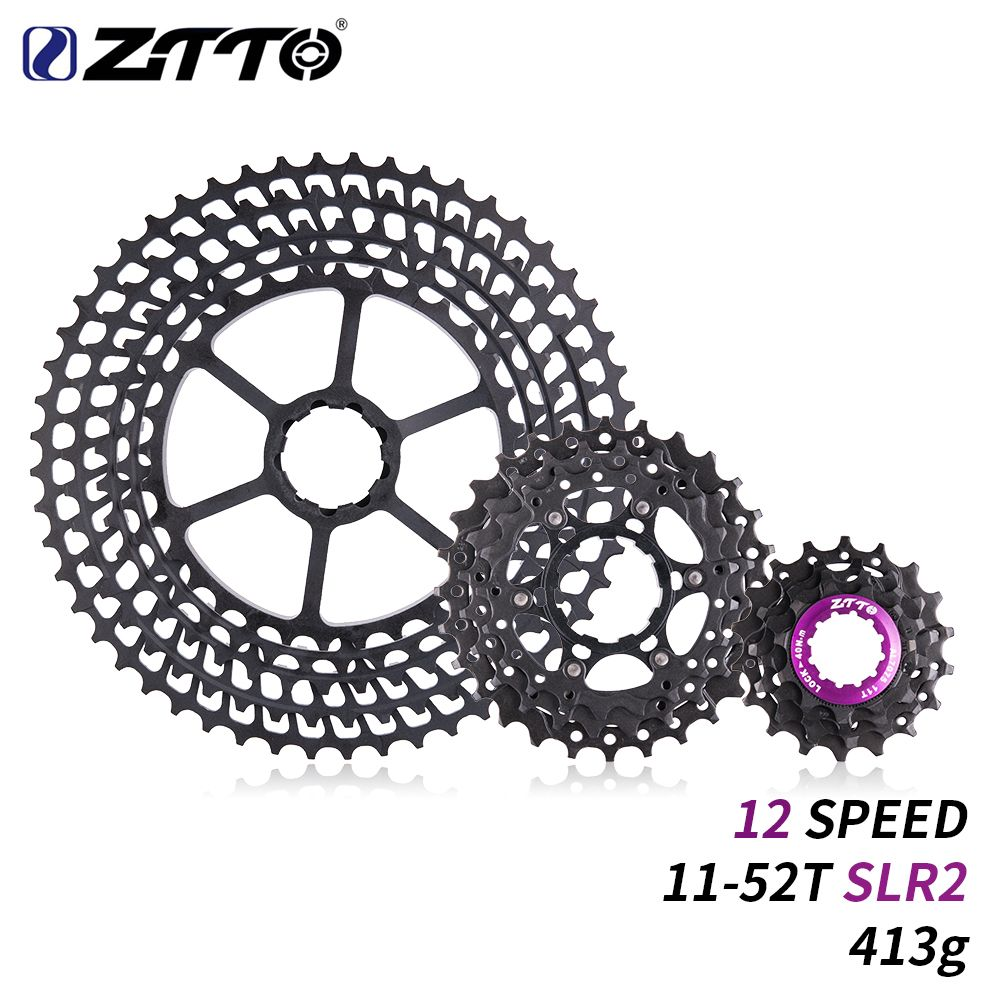 ZTTO 12 s 11-52 t SLR 2 Kassette 12 Geschwindigkeit MTB 12 Geschwindigkeit Ultraleicht K7 12 v 413g CNC Freilauf Mountainbike Fahrrad Teile für HG Hub