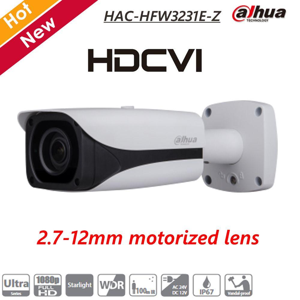 Dahua 2MP Starlight HDCVI IR Bullet Camera 2.7-12mm Motorized Lens IR 100m IP67 CCTV Survillance Camera HAC-HFW3231E-Z