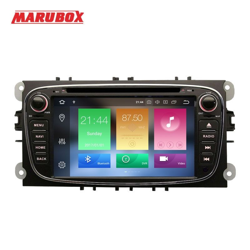 Marubox 2Din Android 8.0 4GB RAM For Ford Focus 2 Mondeo 4 S-MAX Connect 2007-2013 Car Radio GPS DVD Multimedia Player 7A600PX5