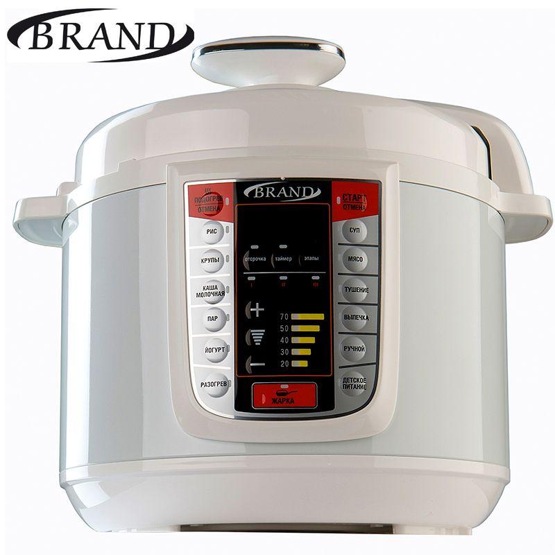 BRAND6051 Elektrische Druck Herd, 5L, Multivarka Kochen schnelle reiskocher, Digitale steuerung, multicooker