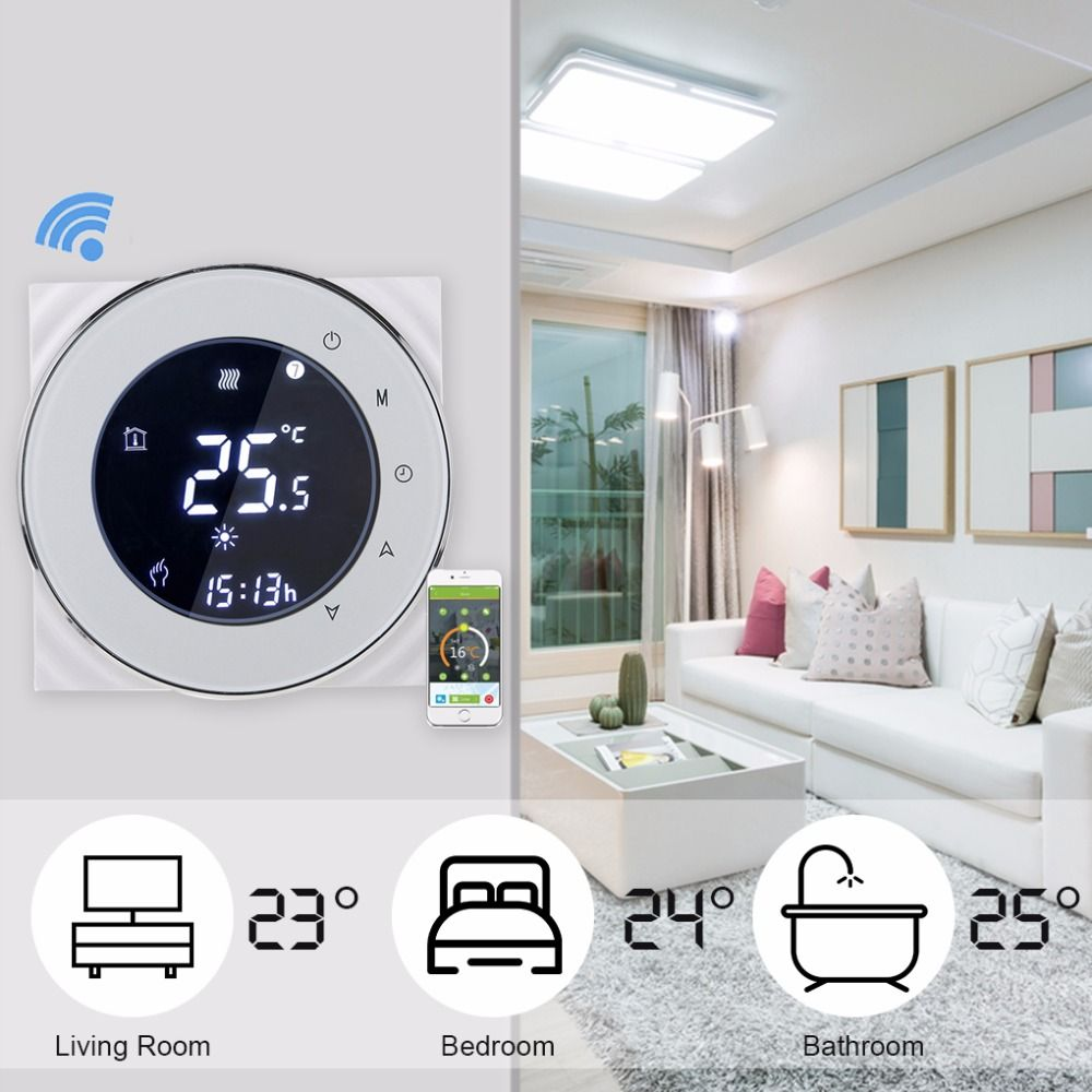 Alexa Smart WiFi Thermostat Gas Boiler Heating Thermostat Programmable Temperature Controller 95-240V 3A