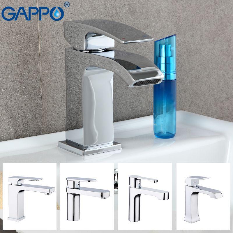 GAPPO water mixer tap Basin sink Faucet bathroom basin faucet mixer single hole brass faucet waterfall toilet basin mixer taps