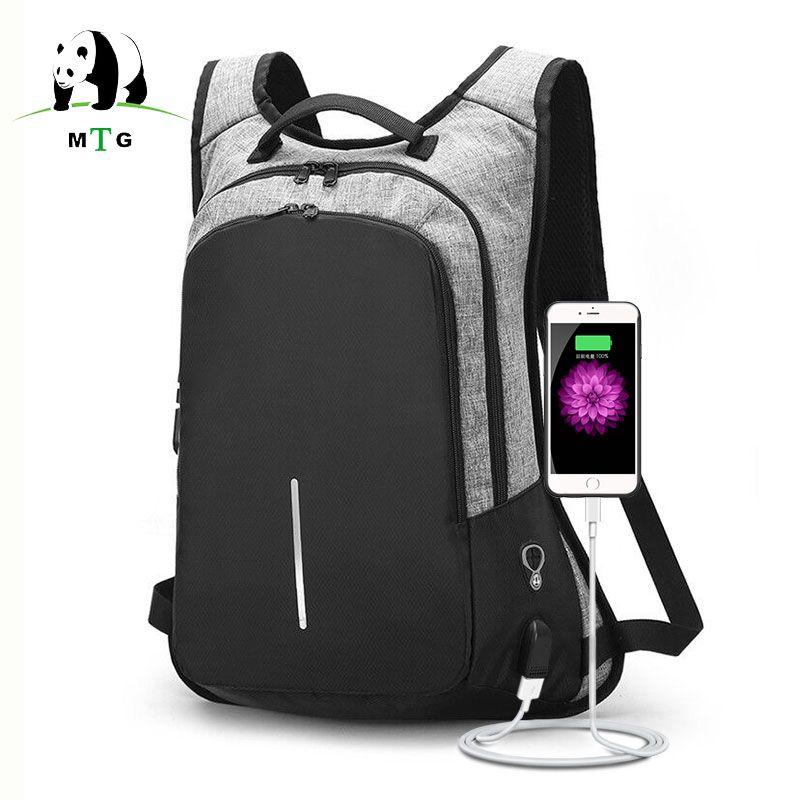 Anti-theft Backpack USB Charging Men Laptop Backpacks For Teenagers Male Waterproof Travel Backpack School Bag Mochila Dropship