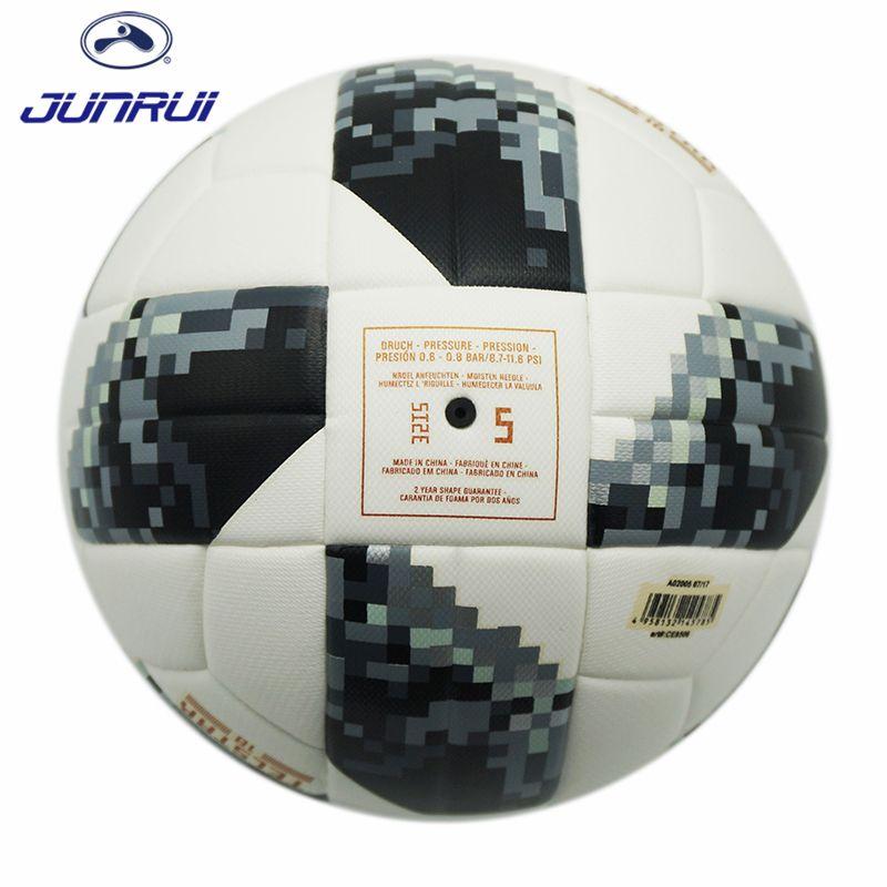 JUNRUI High Quality 2017 Official Size 5 Football Ball PU Granule Slip-resistant Football Match Training Soccer Ball JB606