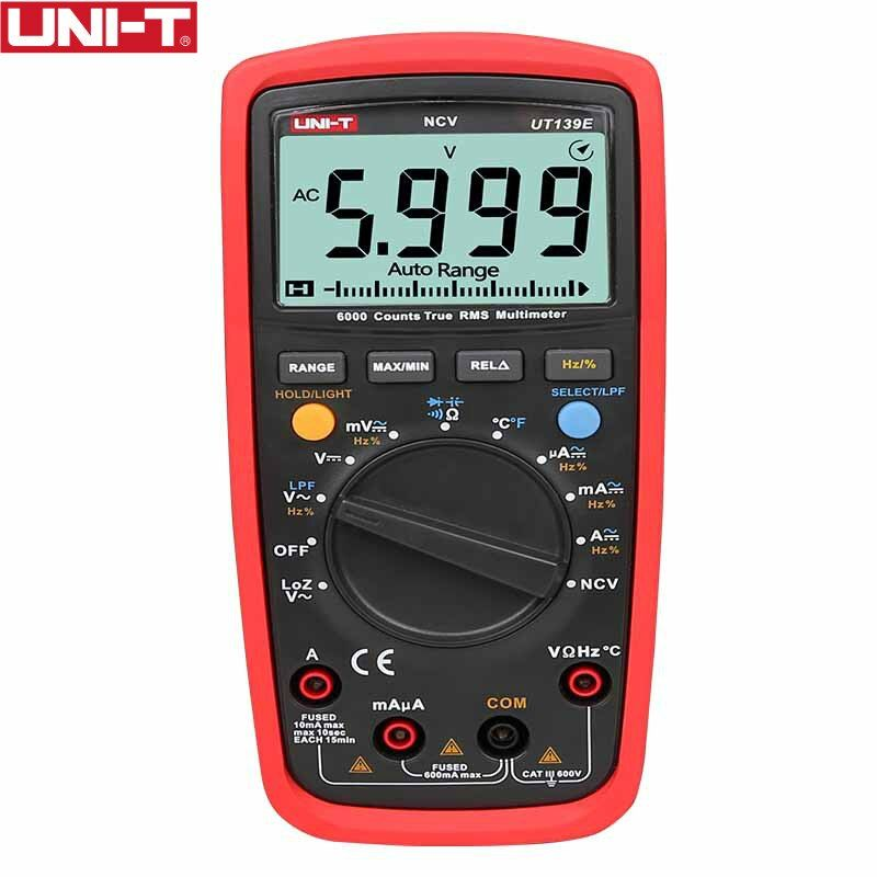 UT139E True RMS Digital Multimeter Temperature Probe LPF pass filter LoZ LoZ (low impedance input) function/Temperature test EB