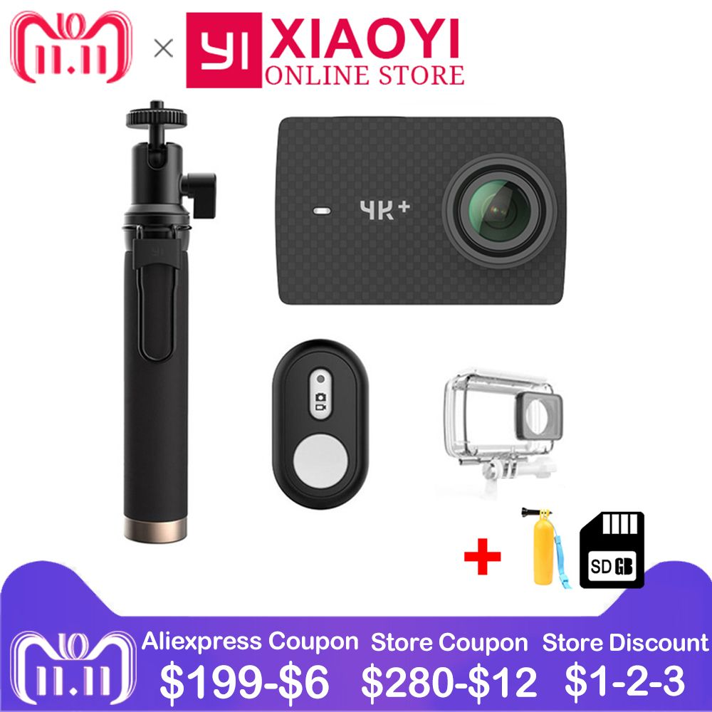 Xiaomi YI 4K+ Action Camera Amba H2 SOC Cortex-A53 4K/60fps 12MP 2.19