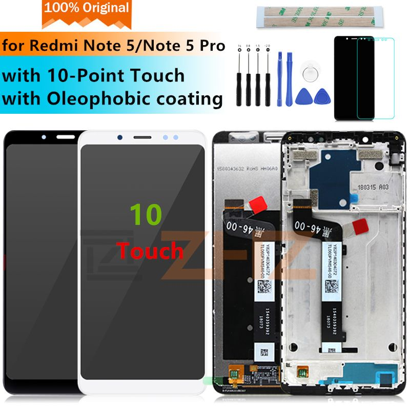 Original for Xiaomi Redmi Note 5 Pro LCD Display Digitizer+Frame 10Touch for Redmi Note 5 display Replacement Repair Parts