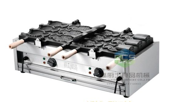 Free shipping 220v 110v 6 pcs Big fish ice cream taiyaki maker machine
