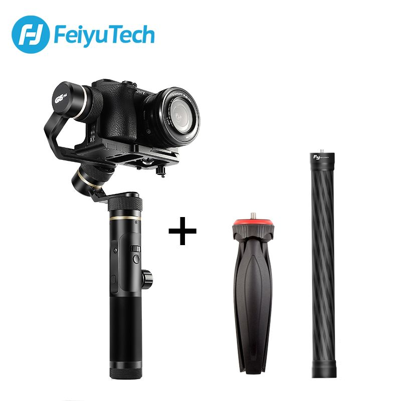 FeiyuTech Feiyu G6 Plus 3-Axis Handle Splash proof Gimbal Stabilizer for Mirrorless Pocket Camera GoPro Hero 6 5 Smartphone
