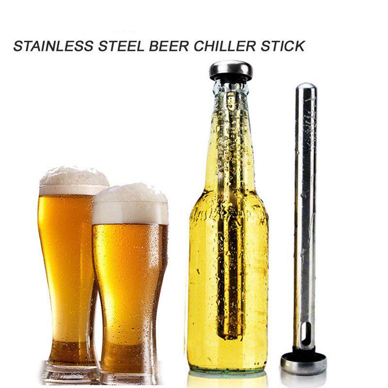 Stainless Steel Cooler Sticks Bottle Inner Beer Chiller Sticks for Rapid Chilling Bottled Drinks Physical Frozen D7